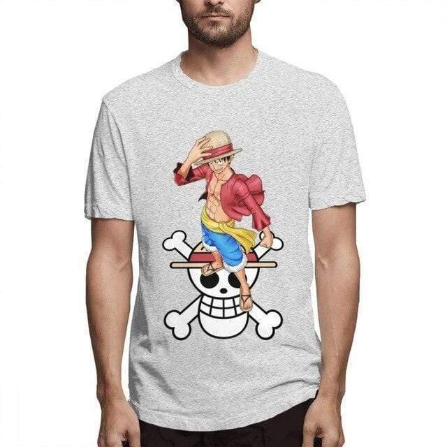 Boutique One Piece T-shirt Gris / S T Shirt One Piece Luffy Et Son Symbole