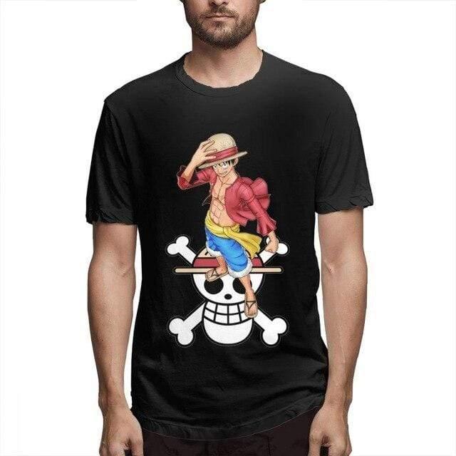 Boutique One Piece T-shirt Noir / XXL T Shirt One Piece Luffy Et Son Symbole