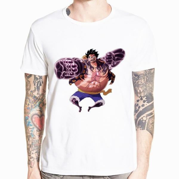 Onepiece-Shops T-shirt S T-Shirt One Piece Luffy Gear 4 Kong Gun