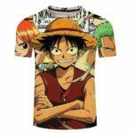 Boutique One Piece T-shirt S T-Shirt One Piece Luffy Nami et Zoro