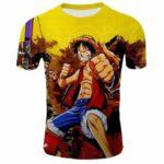 Boutique One Piece T-shirt 2XL T-Shirt One Piece Luffy Roi des Pirates en Herbe