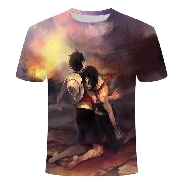 Boutique One Piece T-shirt XS T shirt One Piece Marineford La Mort D'un Frère