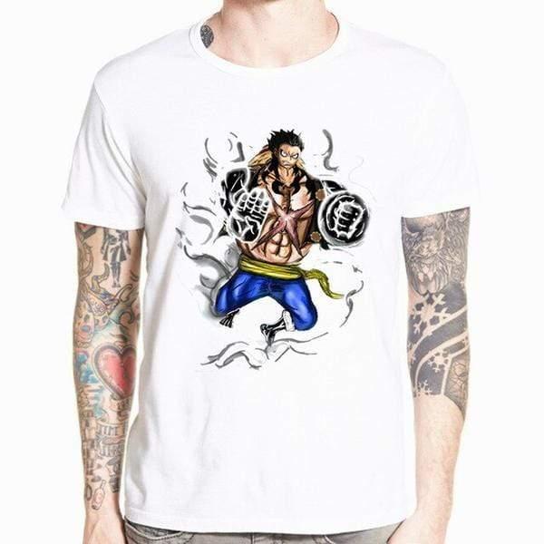 Boutique One Piece T-shirt xs T-Shirt One Piece Monkey D. Luffy Gear Fourth