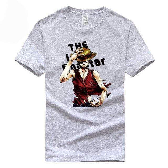 Boutique One Piece T-shirt Gris / S T Shirt One Piece Monkey D Luffy Le Chapeau De Paille