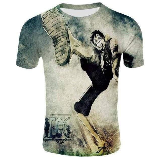 Boutique One Piece T-shirt 2XL T-Shirt One Piece Monkey D Luffy Petit Fils de Garp