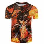 Boutique One Piece T-shirt S T-Shirt One Piece Portgas D Ace et son Feu