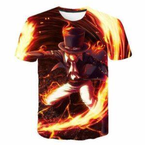 Boutique One Piece T-shirt 6XL T shirt One Piece Sabo Le Révolutionnaire Enflammées