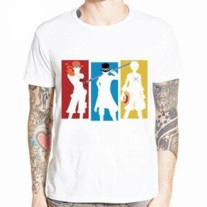 Boutique One Piece T-shirt XXXL T-Shirt One Piece Sabo Luffy et Ace