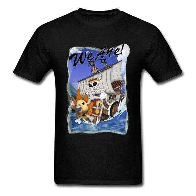 Boutique One Piece T-shirt Noir / 3XL T Shirt One Piece Thousand Sunny