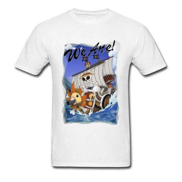 Boutique One Piece T-shirt Blanc / 3XL T Shirt One Piece Thousand Sunny