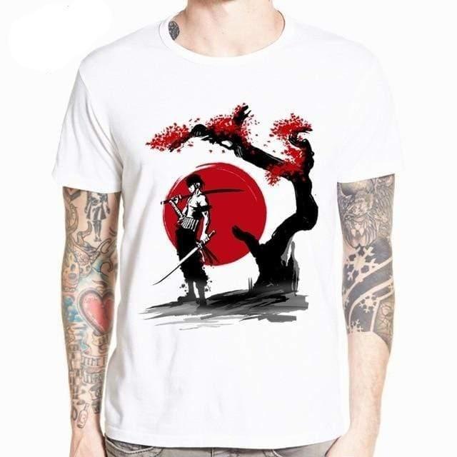 Boutique One Piece T-shirt XXXL T-Shirt One Piece Zoro et la Lune de Sang