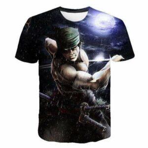 Boutique One Piece T-shirt 4XL T-Shirt One Piece Zoro Fan Art