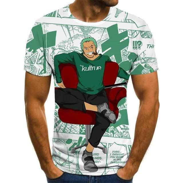 Boutique One Piece T-shirt XXL T-shirt One Piece Zoro Fun