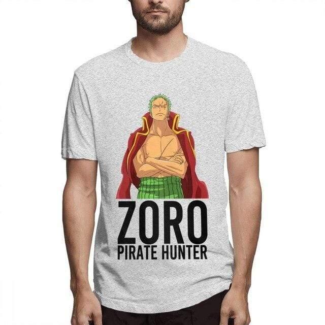 Boutique One Piece T-shirt Gris / L T Shirt One Piece Zorro Chasseur De Pirates