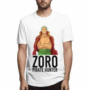 Boutique One Piece T-shirt Blanc / M T Shirt One Piece Zorro Chasseur De Pirates