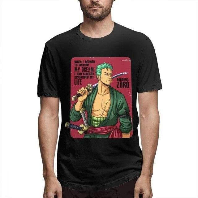 Boutique One Piece T-shirt Black / 4XL T Shirt One Piece zorro vintage