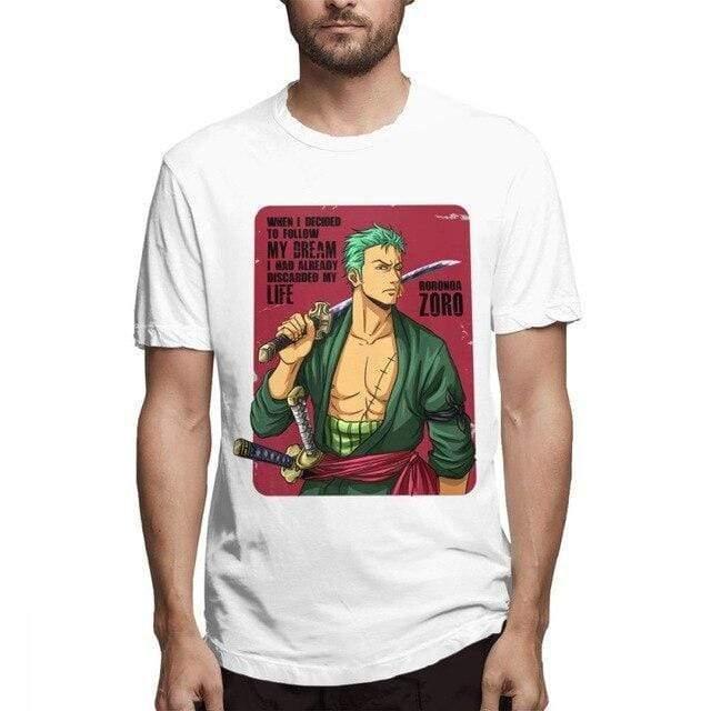 Boutique One Piece T-shirt Blanc / L T Shirt One Piece zorro vintage