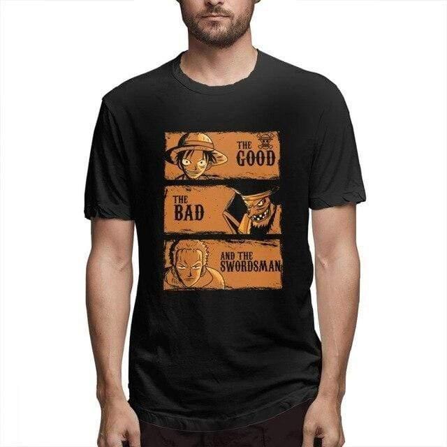 Boutique One Piece T-shirt Noir / M T Sirt One Piece Barbe Noir Luffy Et Zorro