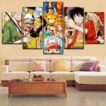 Boutique One Piece Tableau Petit / Sans Cadre Tableau One Piece L'Équipage avec Sunny