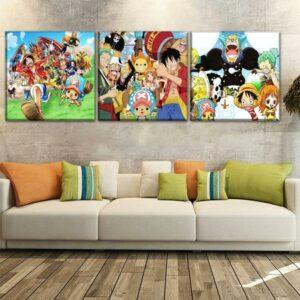 Boutique One Piece Tableau Très Petit / Pack Sans Cadre Tableau One Piece l'Équipage du Chapeau de Paille