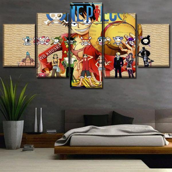 Boutique One Piece Tableau Petit / Sans Cadre Tableau One Piece L'Équipage du Futur Roi des Pirates
