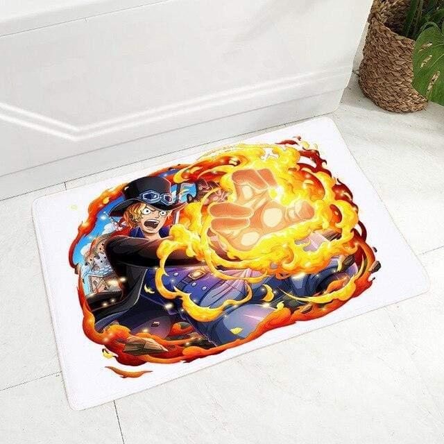 Boutique One Piece Tapis De Douche Tapis De Douche One Piece Sabo Mera Mera No Mi