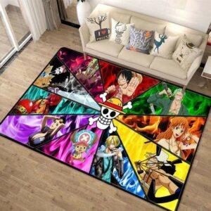 Boutique One Piece Style 17 / 50x80cm(19.7x31inch) Tapis One Piece L'alliance Du Chapeau De Paille