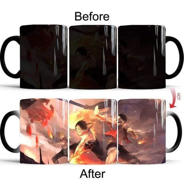 Boutique One Piece Mug Tasse Magique One Piece Luffy Et Ace