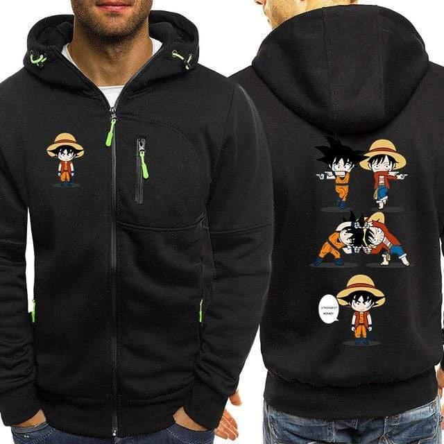 Boutique One Piece Veste Noir / 3XL Veste One Piece Fun Fusion Luffy Goku