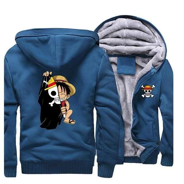 Boutique One Piece Veste Bleu / XXL Veste One Piece Luffy Enfant