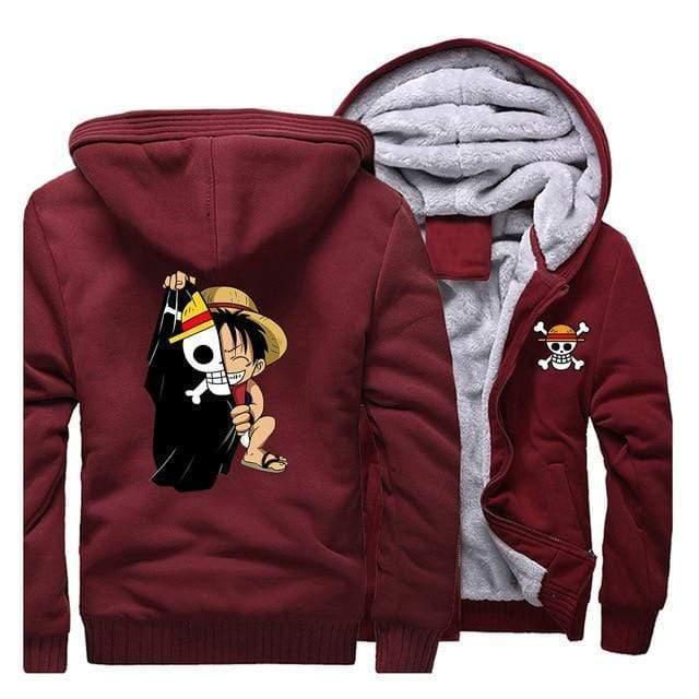 Boutique One Piece Veste Rouge / 5XL Veste One Piece Luffy Enfant